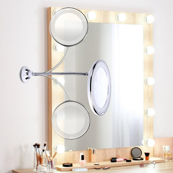 10X Zoom LED Light Fully Adjustable Makeup Mirror