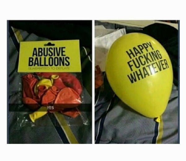 Funny Abusive Party Balloons 24/pack