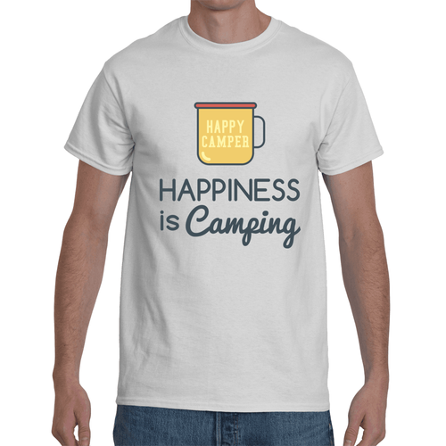 Happiness i Camping T-shirt Dark