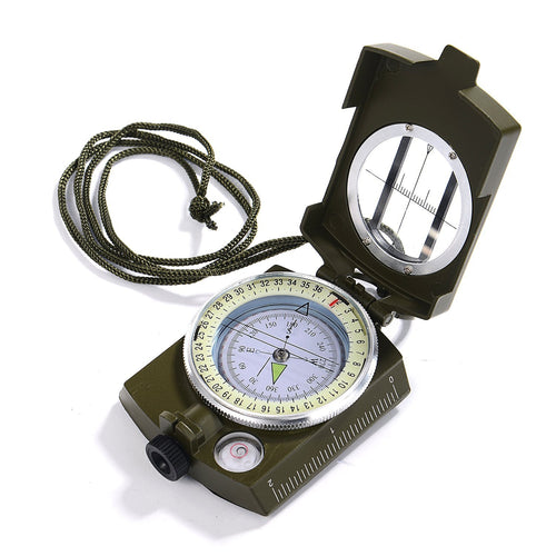 Professional Pocket Prismatic Military Geology Luminous Compass + Pouch