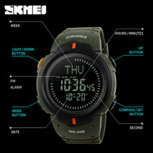 Men's Digital Multifunction Sports Watch with Compass