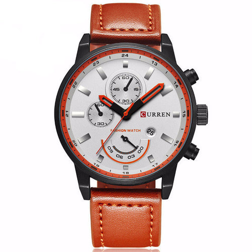 2017 Luxary Leather Men Quartz Watch Analog 3 Colors