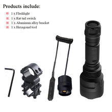 5 Mode Led T6 Tactical Flashlight Waterproof Torch With Accessories