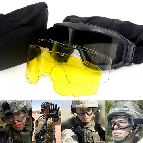 Lancer Tactical Airsoft Safety Goggles Multi Lens Kit: Smoke, Clear and Yellow