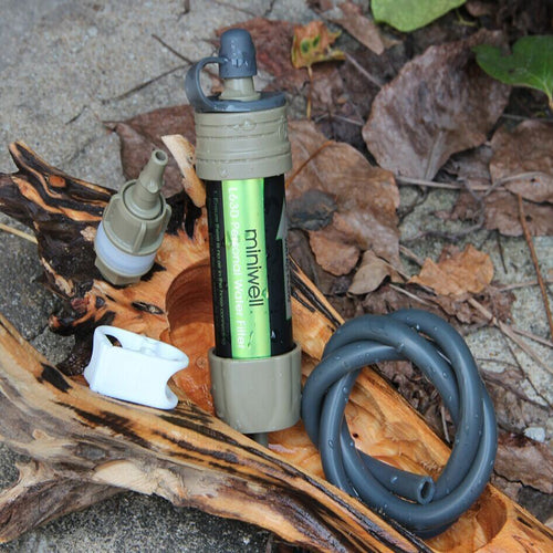 Lightweight straw Water Filter Survival Kit For Travel and Sport