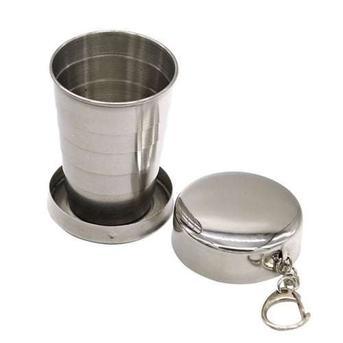 240ML Stainless Steel Folding Cup Portable Outdoor Telescopic Mug