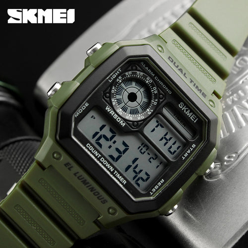 Skmei Classic Retro Sport Watch 50m Waterproof 4 Colors