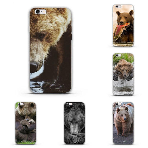 Grizzly Silicon Cover Case For iPhone (from 5s to X)