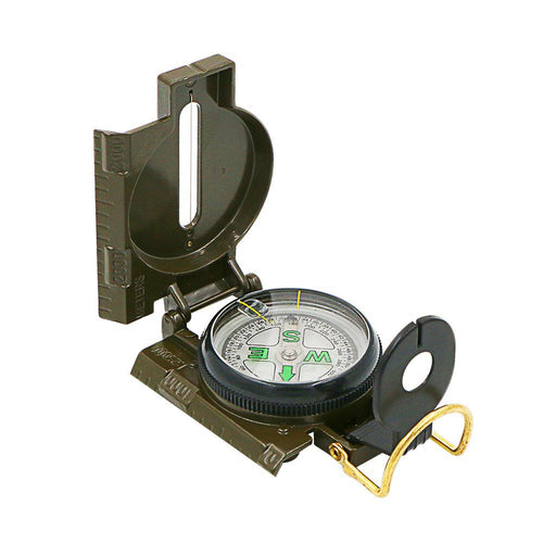 Survival Military Compass with Foldable Metal Lid (Army Green)
