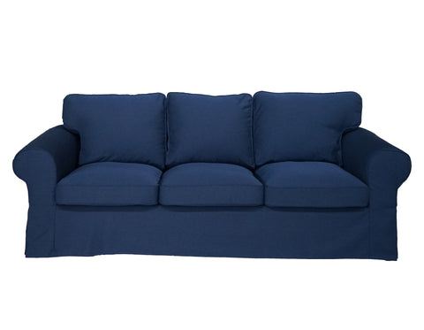 ektorp 3 seat sofa cover heavey duty navy blue
