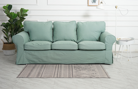ektorp 3 seat sofa cover mint green