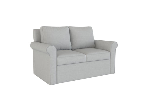 PB Cameron Roll Arm Loveseat Slipcover - LindaKale