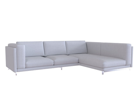Nockeby Loveseat with Chaise Cover, Left - LindaKale