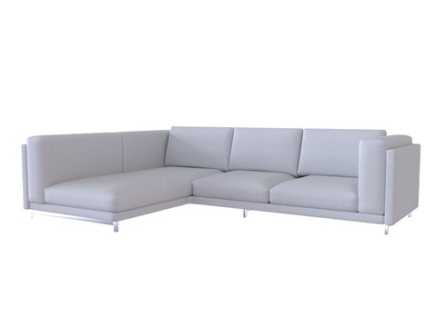 Nockeby Loveseat with Chaise Cover, Right - LindaKale
