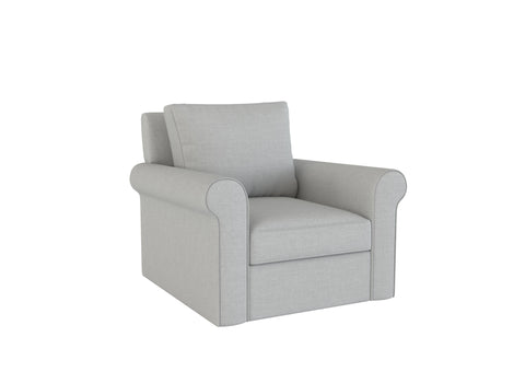 PB Cameron Roll Arm Chair Slipcover - LindaKale