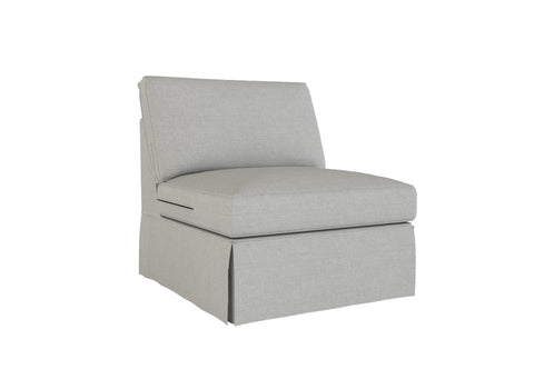 PB Basic Armless Chair Cover, PB Basic sectional components slipcover - LindaKale