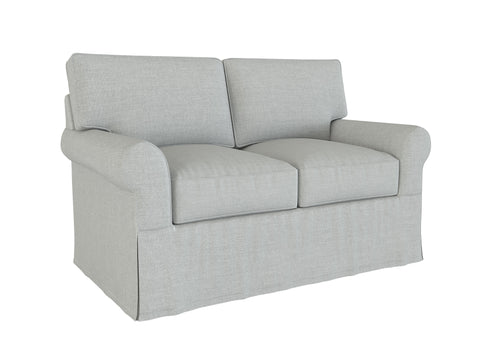 PB Buchanan Loveseat Slipcover, Roll Arm 79