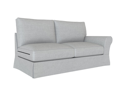 PB Comfort Roll Arm Right Arm Loveseat Cover, PB comfort sectional components slipcover - LindaKale