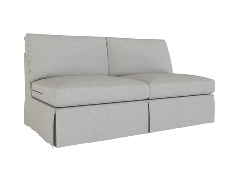 PB Basic Armless Loveseat Cover, PB Basic sectional components slipcover - LindaKale