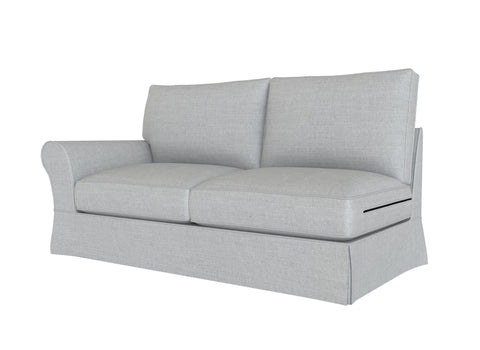 PB Comfort Roll Arm Left Arm Loveseat Cover, PB comfort sectional components slipcover - LindaKale