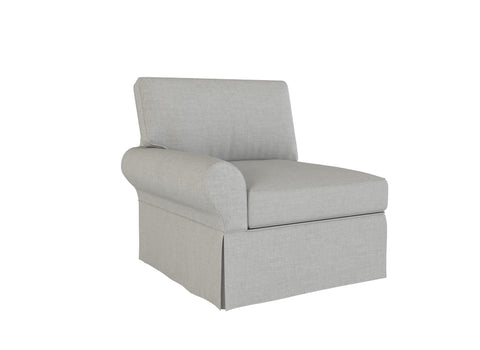 PB Basic Left Arm Chair Cover, PB Basic sectional components slipcover - LindaKale