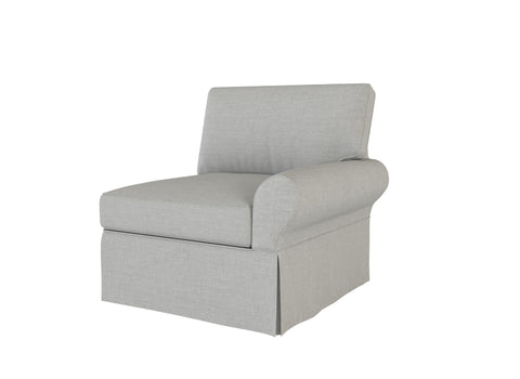 PB Basic Right Arm Chair Cover, PB Basic sectional components slipcover - LindaKale