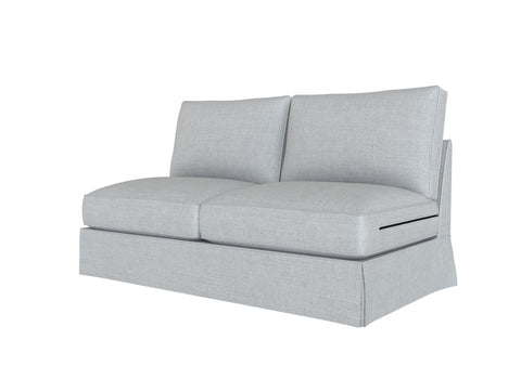 PB Comfort Armless Loveseat Cover, PB comfort sectional components slipcover - LindaKale