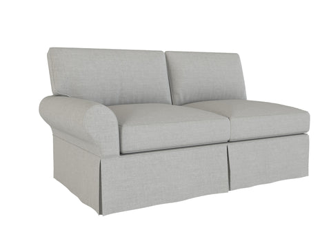 PB Basic Left Arm Loveseat Cover, PB Basic sectional components slipcover - LindaKale