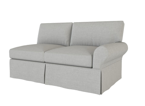 PB Basic Right Arm Loveseat Cover, PB Basic sectional components slipcover - LindaKale