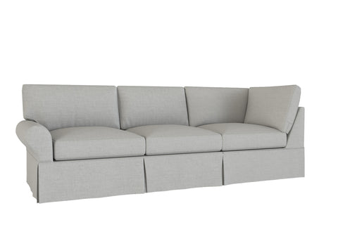 PB Basic Left Return Sofa Cover, PB Basic sectional components slipcover - LindaKale