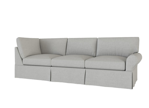 PB Basic Right Return Sofa Cover, PB Basic sectional components slipcover - LindaKale