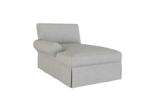 PB Basic Left Arm Chaise Cover, PB Basic sectional components slipcover - LindaKale