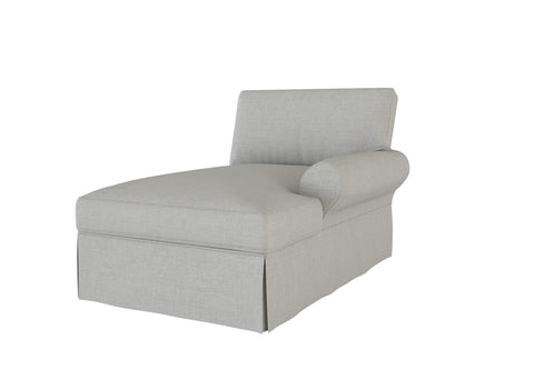 PB Basic Right Arm Chaise Cover, PB Basic sectional components slipcover - LindaKale