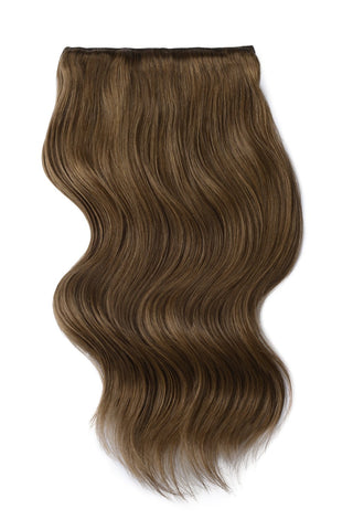 dark ash brown clip in human hair extensions  9