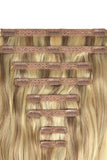 Dark Blonde highlights hair extensions human hair