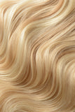 Full Head Remy Clip in Human Hair Extensions - Strawberry Blonde/Bleach Blonde Mix (#27/613)