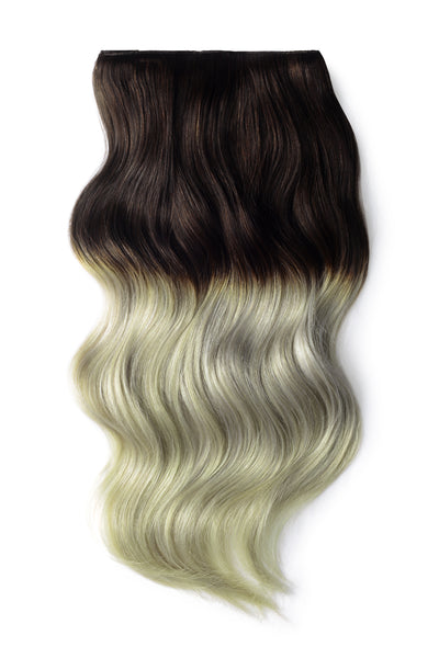 brown silver hair extensions ombre
