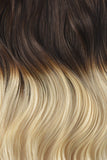 Double Wefted Full Head Remy Clip in Human Hair Extensions - Ombre (#T4/613)