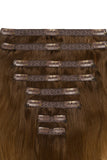 Full Head Remy Clip in Human Hair Extensions - Ombre (#T6/27)