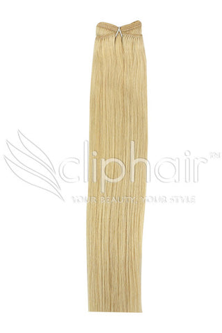 Remy Human Hair Weft/Weave Extensions -Light Ash Blonde (#22)