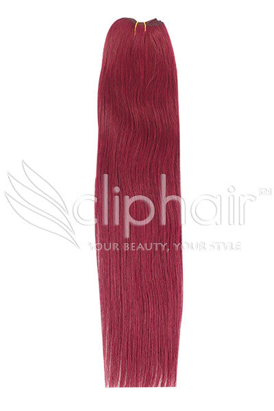 cherry-red-530-human-hair-weft-weave