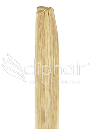 Remy Human Hair Weft/Weave Extensions - Strawberry Blonde/Bleach Blonde Mix (#27/613)