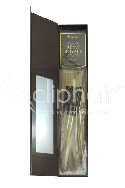 Royale human hair weft/weave Human Hair Extensions - Brown/Blonde Mix (#12/16/613)