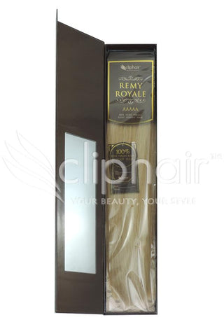 Royale human hair weft/weave Human Hair Extensions - Light Golden Blonde (#16)