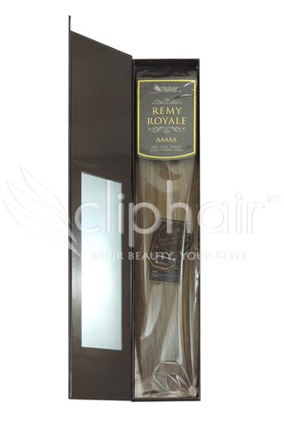 Royale human hair weft/weave Human Hair Extensions - Lightest Brown (#18)