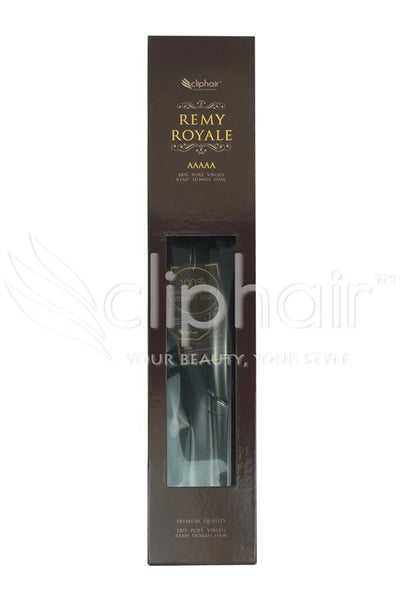 Royale human hair weft/weave Human Hair Extensions - Light/Chestnut Brown (#6)
