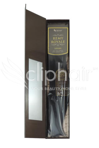 Royale human hair weft/weave Human Hair Extensions - Darkest Brown (#2)