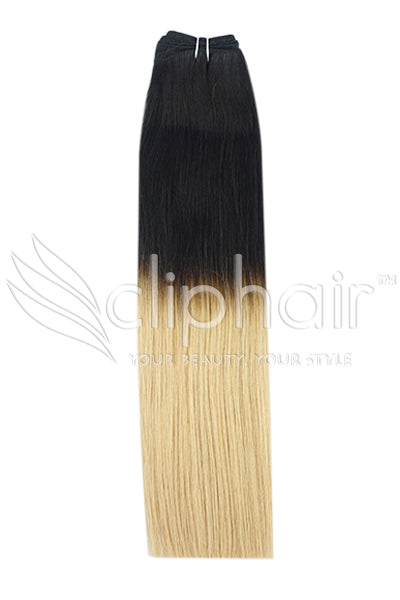 Remy Human Hair Weft/Weave Extensions - Ombre (#T1/27)