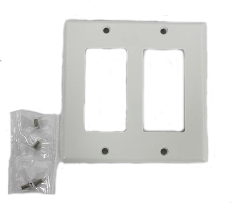 2-Gang Decorex Faceplate, White