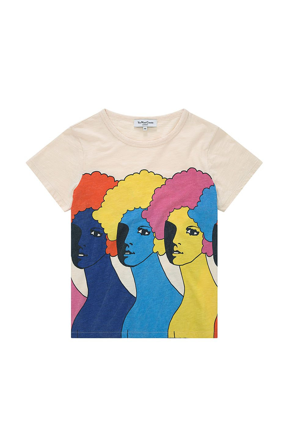 Heads T-Shirt in Ecru